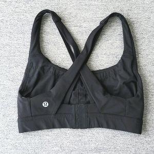 Lululemon Black Sports Bra, Size 4 C/D